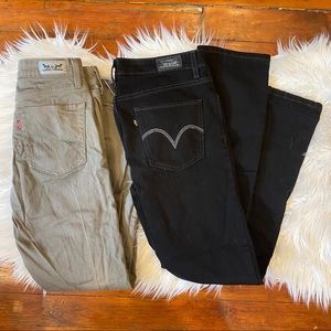 Bundle of 2 Levi's Mid-Rise Jeans